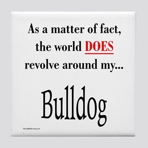 Bulldog World Tile Coaster
