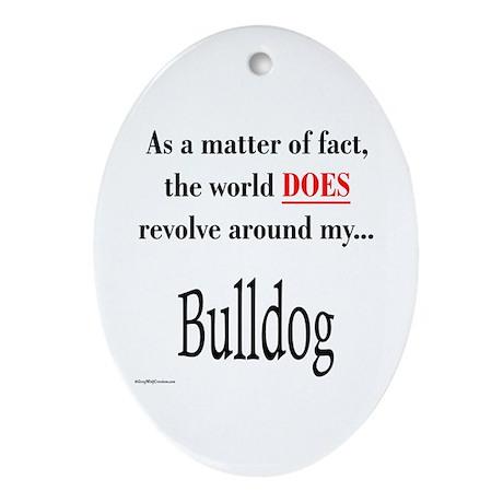 Bulldog World Oval Ornament