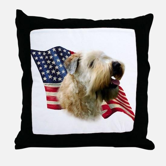 Wheaten Flag Throw Pillow