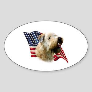 Wheaten Flag Oval Sticker