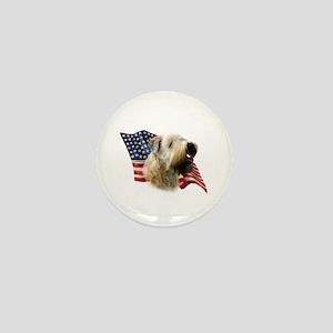 Wheaten Flag Mini Button