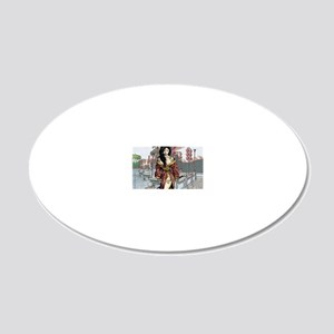 PinupCal12JAN 20x12 Oval Wall Decal