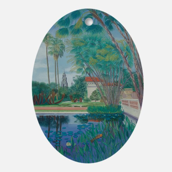 Balboa Park Pond a shirt Oval Ornament