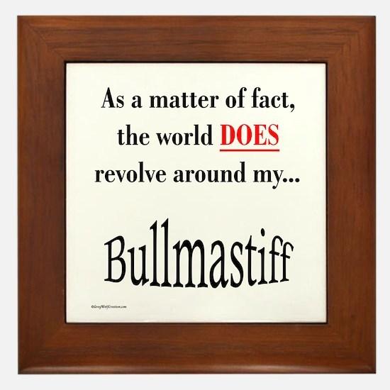 Bullmastiff World Framed Tile