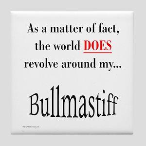 Bullmastiff World Tile Coaster