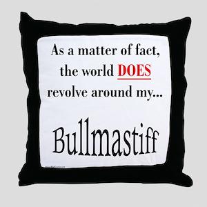 Bullmastiff World Throw Pillow