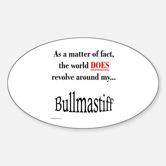 Bullmastiff World Oval Decal