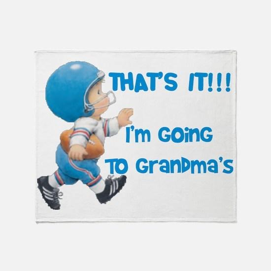Im Going To Grandmas Throw Blanket