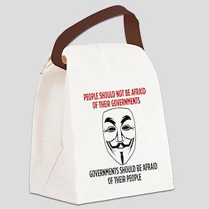 V Mask Canvas Lunch Bag