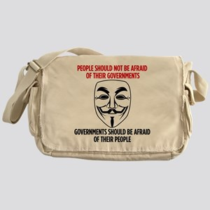 V Mask Messenger Bag