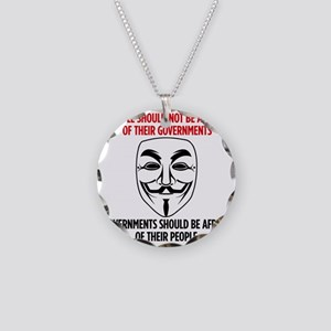 V Mask Necklace Circle Charm
