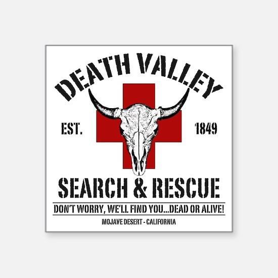 """DEATH VALLEY RESCUEc Square Sticker 3"""" x 3"""""""