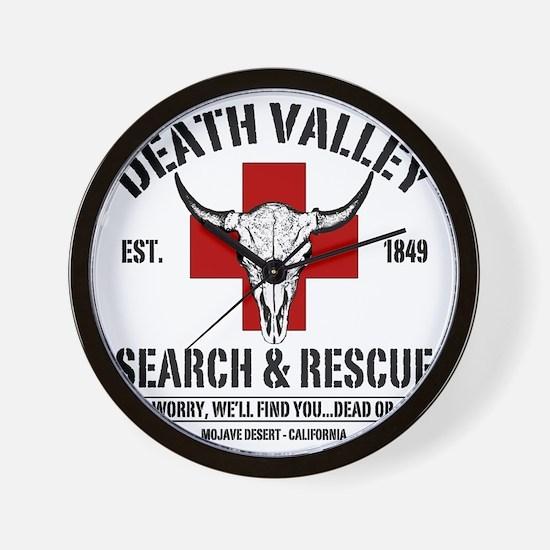 DEATH VALLEY RESCUEc Wall Clock