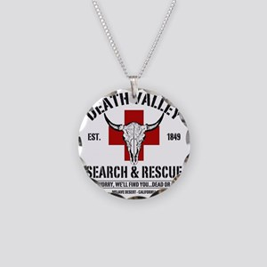 DEATH VALLEY RESCUEc Necklace Circle Charm