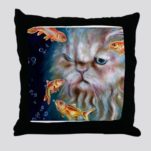 midnight_w Throw Pillow