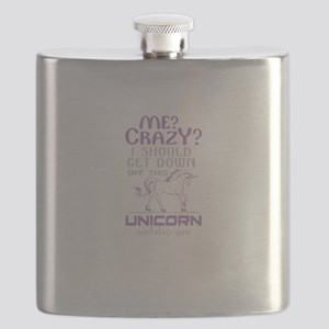 I Should Get Down Off This Unicorn Flask