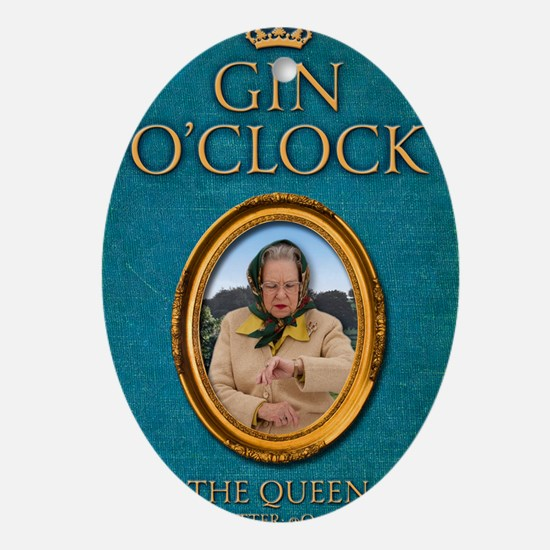 Gin OClock book Oval Ornament