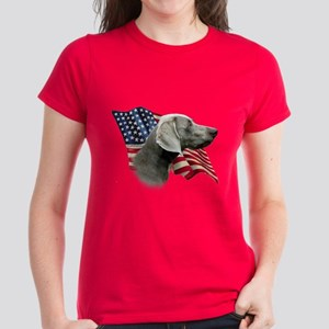 Weimaraner Flag Women's Dark T-Shirt