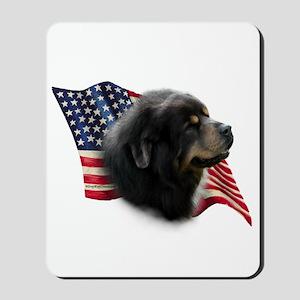 Tibetan Mastiff Flag Mousepad