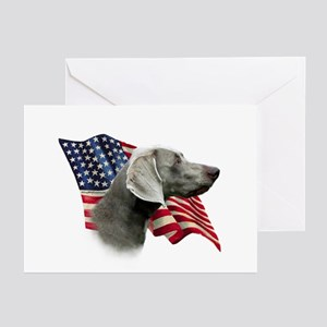 Weimaraner Flag Greeting Cards (Pk of 10)