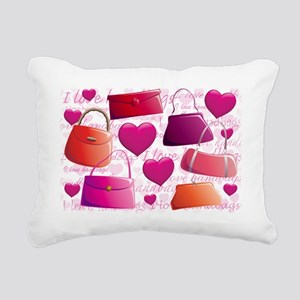 558 I Love Handbags for  Rectangular Canvas Pillow