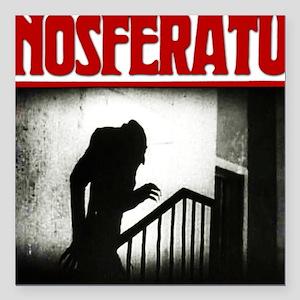 "Nosferatu-01 Square Car Magnet 3"" x 3"""