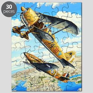 World War II Fiat CR.42 biplane Puzzle