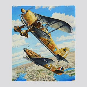 World War II Fiat CR.42 biplane Throw Blanket
