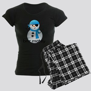 shirt_snowcapn Women's Dark Pajamas