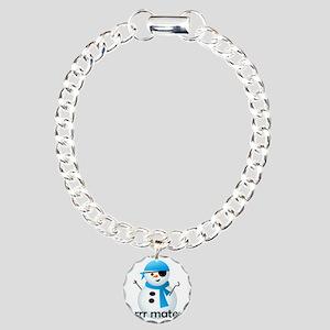 shirt_snowcapn Charm Bracelet, One Charm