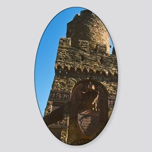 Rhine Valley. Stone gate tower with Sticker (Oval)