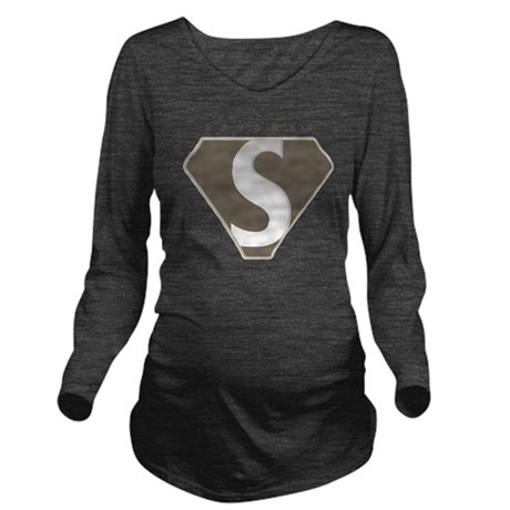 spudman_V2 Long Sleeve Maternity T-Shirt