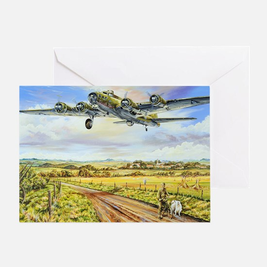 305th Bomb Group B-17 Flying Fortres Greeting Card