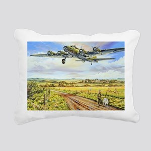 305th Bomb Group B-17 Fl Rectangular Canvas Pillow