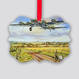 305th Bomb Group B-17 Flying Fort Picture Ornament