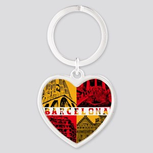 Barcelona_10x10_apparel_AntoniGaudà Heart Keychain