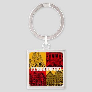 Barcelona_10x10_apparel_AntoniGaud Square Keychain