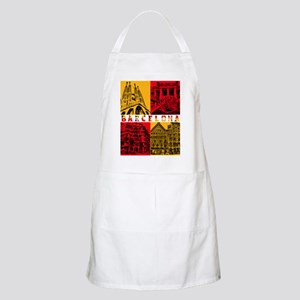 Barcelona_10x10_apparel_AntoniGaudí_RedYell Apron