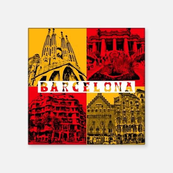 """Barcelona_10x10_apparel_Ant Square Sticker 3"""" x 3"""""""