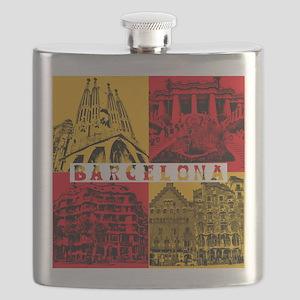Barcelona_10x10_apparel_AntoniGaudí_RedYell Flask