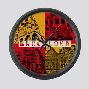 Barcelona_10x10_apparel_AntoniGau Large Wall Clock