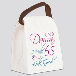 65th Birthday Humor Canvas Lunch Bag