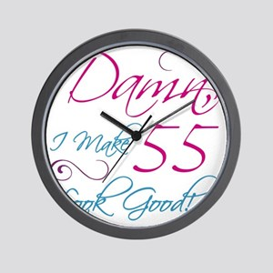 55th Birthday Humor Wall Clock
