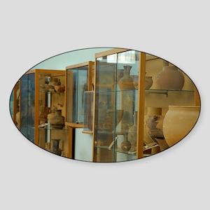 Delos Archaeological Museum, artifa Sticker (Oval)