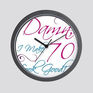 70th Birthday Humor Wall Clock