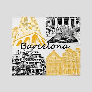 Barcelona_10x10_apparel_AntoniGaudí Throw Blanket