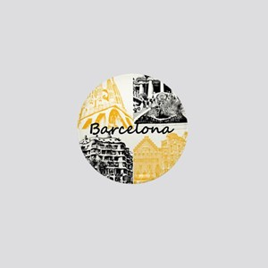Barcelona_10x10_apparel_AntoniGaudí_B Mini Button