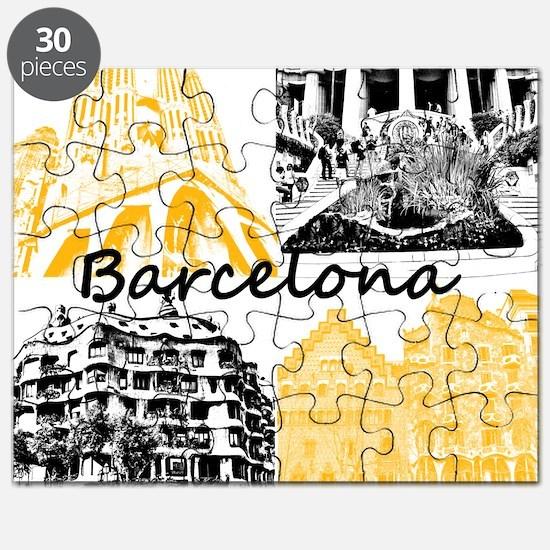 Barcelona_10x10_apparel_AntoniGaudí_BlackY Puzzle