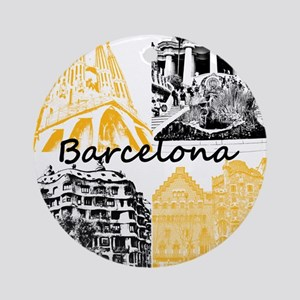 Barcelona_10x10_apparel_AntoniGaudà Round Ornament