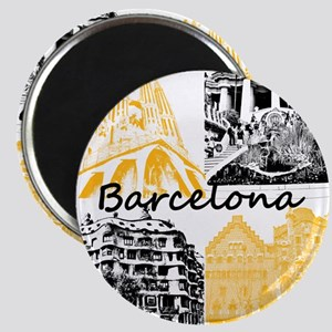 Barcelona_10x10_apparel_AntoniGaudí_BlackY Magnet